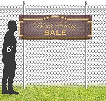 CGSignLab 9x3 Classic Brown Wind-Resistant Outdoor Mesh Vinyl Banner Black Friday Sale