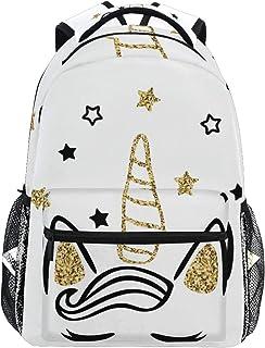 Mochila mágica con diseño de unicornio con estrellas y purpurina para la escuela, para niñas y niños, mujeres, ideal para viajes, día de hombro