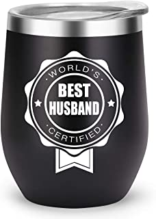 Husband Gifts Funny Travel Tumbler, Hubby Gift from Wife for Birthday Anniversary Fathers Day Christmas, Unique Gift Ideas for Men Him (Best-Husband)
