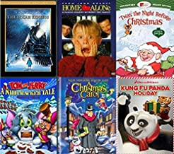 Holiday Movies on DVD - 6 Pack - The Polar Express / Home Alone / Twas The Night Before Christmas / Tom & Jerry: A Nutcracker's Tale / A Christmas Carol / Kung Fu Panda Holiday