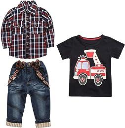 3 Pièces Vêtements de Enfant Hauts à Manches Longu