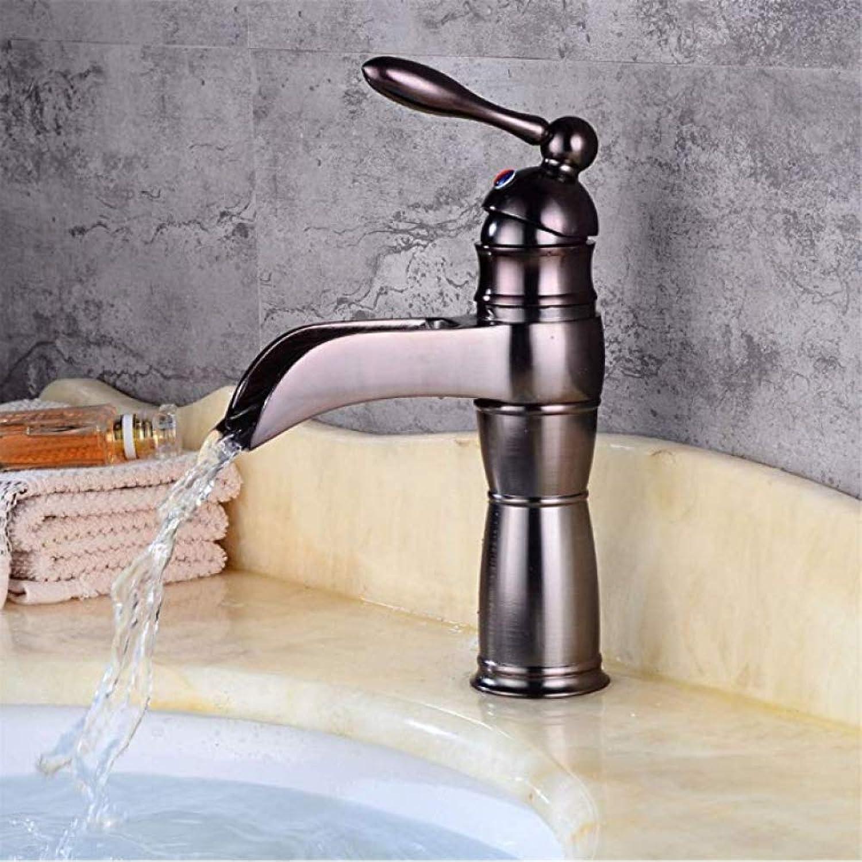 Honcx Wasserhahn Retro Bad Becken Wasserhahn Waschbecken Becken Wasserhahn Wasserfall Unter Gegenbecken Waschbecken Becken Wasserhahn Heies Und Kaltes Wasser