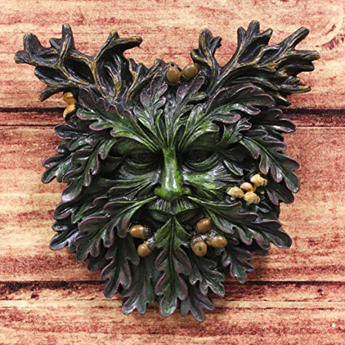 Ebros Nature Spirit God Autumn Euphoria Celtic Greenman Hanging Wall Decor Plaque 6' High Wiccan Tree of Life Forest Shepherd Horned God Cernunnos Ent Mythical Fantasy Decorative Sculpture
