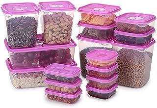 Haucy Lot de 17 Boîtes de Conservation à Céréales, Boîte Alimentaire, Set de Boîte de Conservation Alimentaire, Conteneur ...