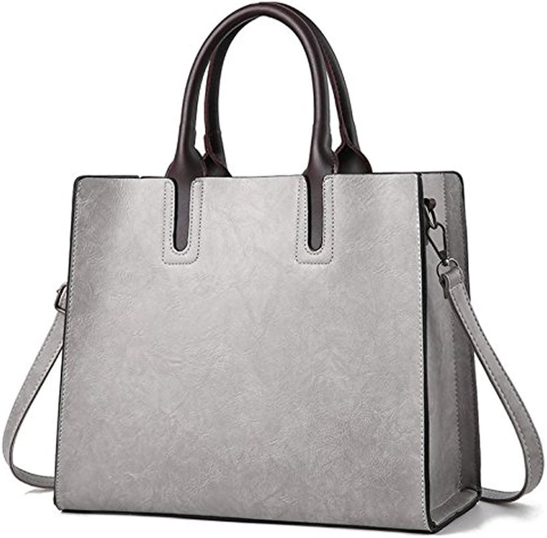 SJZ TECH Women's Designer Large Laptop Top Handle Structured Tote Bag Satchel Handbag Shoulder Bag Purse