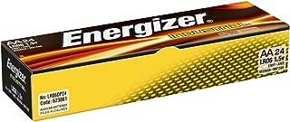 Energizer Industrial AA Alkaline Batteries, 24 Count (Pack of 6)
