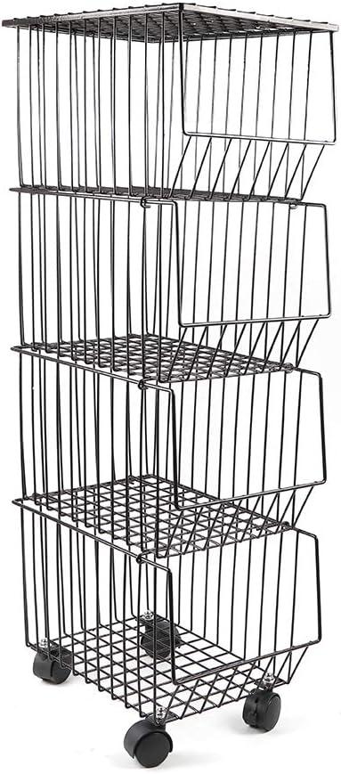 LOYALHEARTDY Fashion 4-Layer Iron-Carbon Steel Load-Bear Storage Basket Omaha Mall