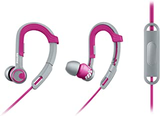Philips SHQ3305PK/27 ActionFit Sports Headphones with Mic, Pink