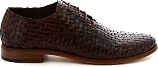 LEONARDO SHOES Luxury Fashion Womens 5184BROWN Brown Lace-Up Shoes | Season Permanent