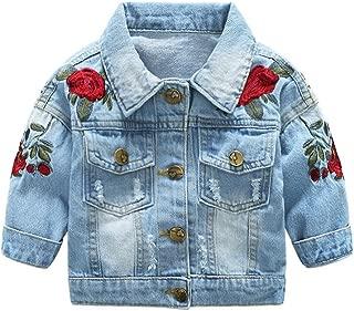 Best denim jacket rose embroidery Reviews