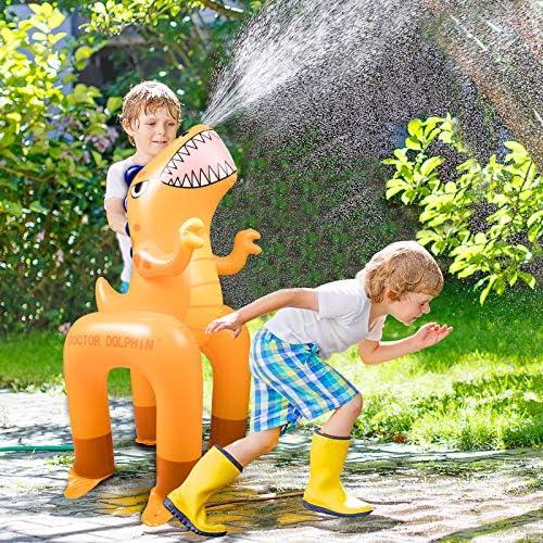 Ayeboovi Sprinkler for Kids Inflatable Dinosaur Water Toys Pool Accessories Outdoor Yard Sprinkler product image