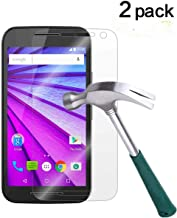Moto G (3rd Gen) Screen Protector, TANTEK [Bubble-Free][HD-Clear][Anti-Scratch][Anti-Glare][Anti-Fingerprint] Tempered Gla...