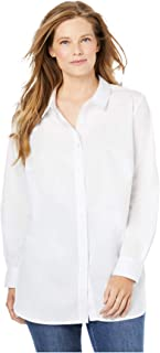 Women's Plus Size Perfect Long-Sleeve Button Down Shirt