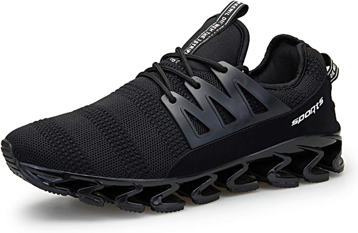 TSIODFO Springblade Sports Sneakers for Men Mesh Breathable Fashion Youth Big Boys Trail Walking shoes Black Green red