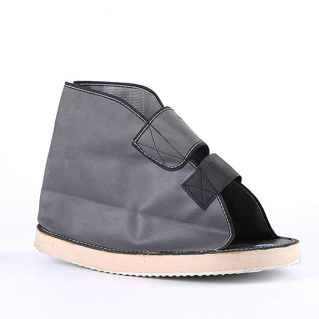 バッジカバレッジ補うボトムキャストの靴術後の靴 - 術後の壊れたつま先/足骨折広場つま先ウォーキングシューズ - 調節可能な医療ウォーキングブーツ (Size : L)