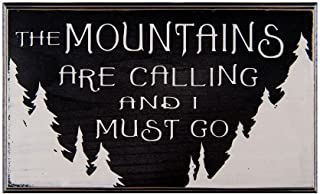 The Mountains are Calling and I Must Go Wood Sign for Wall Decor or Gift -- PERFECT FOR VACATION HOME!