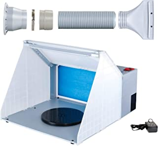 Master Airbrush Brand Lighted Portable Hobby Airbrush Spray Booth with LED Lighting for..