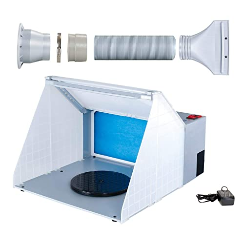 Master Airbrush Brand Lighted Portable Hobby Airbrush Spray Booth with LED Lighting for Painting All Art