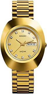 Rado Men's Gold Dial 18K Yellow Gold Band Watch - R12393633