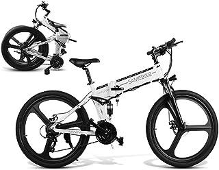 Coolautoparts Bicicleta Eléctrica PLEGABLE 350W/500W 26 Pulgadas para Hombres Mujeres de Aluminio Bicicleta de Montaña/Car...