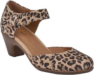 حذاء نسائي من Easy Spirit Clarice مقاس 7 B(M) US بني اللون أسود مرقط