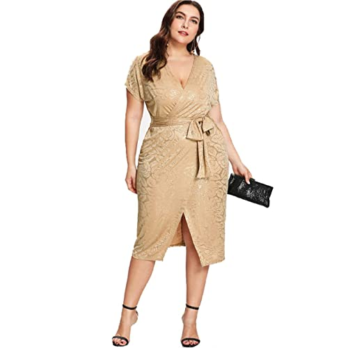 1cf48444f3e05 ESPRLIA Women s Plus Size Sequin Party Club Cocktail Maxi Night Gowns Dress