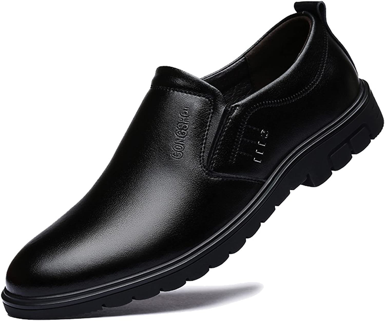 eb6befc72a2b6 Seaoeey Leather shoes Men's Business shoes Father Father Father ...