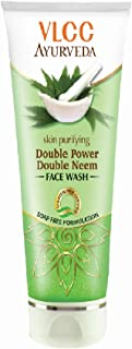 VLCC Skin Purifying Double Power Double Neem Facewash- 100 ml(Pack of 2)
