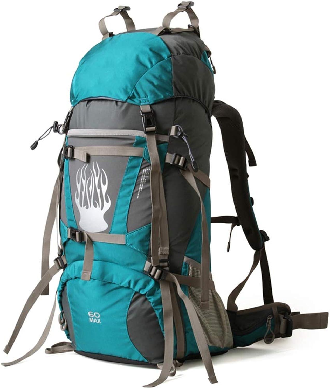 Wandern Reiserucksack Trekking Klettern Camping Bergsteigen Bergsteigen Bergsteigen Rucksack für Männer, Frauen FENGMING (Farbe   Lake Blau, größe   60l) B07NRWZD4X  Sorgfältig ausgewählte Materialien ed3b3e