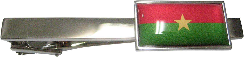 Kiola Designs Thin Bordered Burkina Faso Flag Tie Clip
