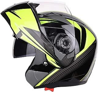 Youth Kids Motorcycle Helmet Locomotive Double Visor Flip Cover Modular Full Face Helmet Four Seasons Cross Country Helmet Mountain Bike Helmet,Struggle,XXL
