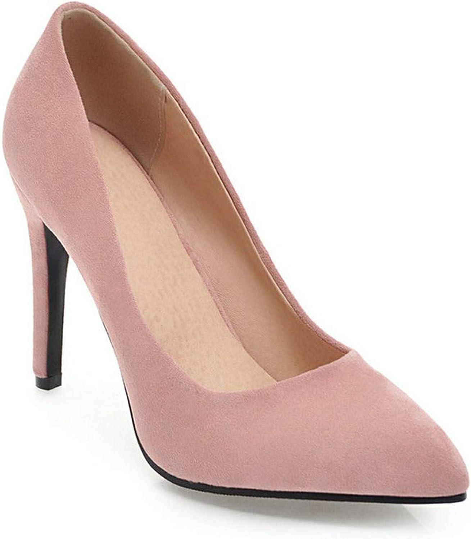 Women Pumps Women shoes Spring Autumn All Match Thin High Heel Pointed Toe Flock Wedding Pumps