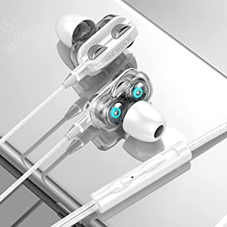 $29 » Tuscom 3.5mm in-Ear Wired Earphones Super Bass Wired Earbuds with Microphone Headphones HiFi Stereo Noise Isolating Ergono...