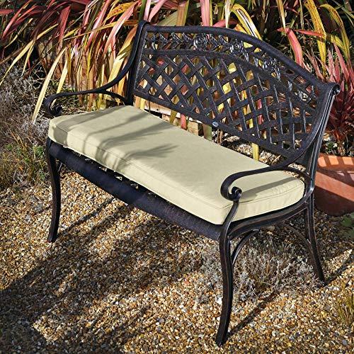 Lazy Susan - Rose Gartenbank aus Aluminium| Antik Bronze (Beiges Kissen) | Garten > Gartenmöbel > Gartenbänke | Lazy Susan Furniture