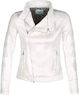 ec22040934c2 Desigual Marble Giacche Donne Bianco Giacca in Cuoio/Simil Cuoio