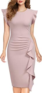 Miusol Casual Slim Fit Coctel Vestido de Lápiz para Mujer