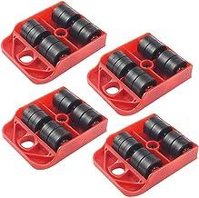 Baiyao Lot de 4 patins pour meubles lourds - Roulettes mobiles - Roulettes pivotantes à 360 degrés - Facile à déplacer