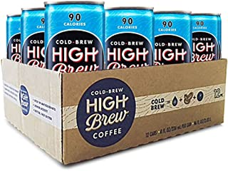 High Brew Cold Brew Coffee, Mexican Vanilla, 8 Fl Oz Can, Pack of 12