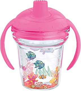 Tervis 1177831 Fishy Fun Tumbler with Wrap and Playful Pink Lid 6oz My First Tervis Sippy Cup, Clear