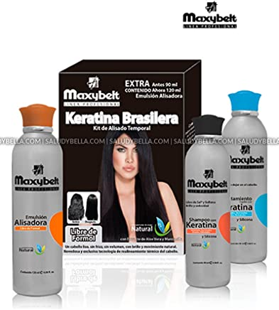 Maxybelt Keratina Brasilera | Progresive Straightening Treatment Blowout with carbocysteine | No Formol, No Itching