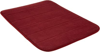 Memory Foam Bath Mat-Incredibly Soft and Absorbent Rug, Cozy Velvet Non-Slip Mats Use for Kitchen or Bathroom (20 Inch x 30 Inch, Burgundy)