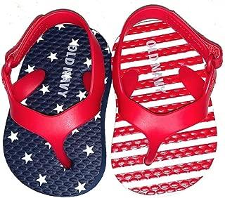 Navy Flip Flops for Infant Girls (Size 0-3 Mos Americana)