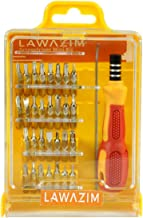 Lawazim 30-in-1 Precision Screwdriver Set with Slotted, Phillips, Torx & More Bits, Non-Slip Magnetic Electronics Tool Kit