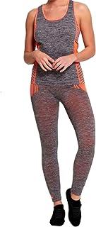DIGITAL SPOT Womens Active Sports Zone Wear Leggings and Vest Set Ladies Gym Wear Tracksuit