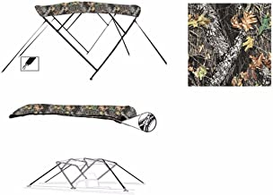 8 oz 4 Bow Camouflage Mossy Oak Break UP CAMO Boat Bimini TOP Sunshade for Godfrey Hurricane SUNDECK SD 260 O/B 2006-2009