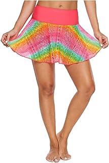 Gu3Je Exquisito Pantalones Mujer de natación de baño Falda Falda Acampanada Cintura Alta Bikini Beach Hakama para Playa, Piscina