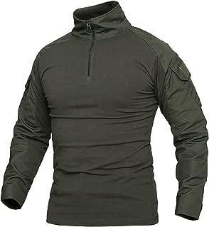 CARWORNIC Men's Assault Military Tactical Combat Shirt Short Long Sleeve Outdoor Army T Shirt