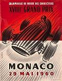 Monaco Grand Prix 1960 Vintage Poster (artist: Lorenzi) Monaco c. 1960 (9x12 Art Print, Wall Decor Travel Poster)