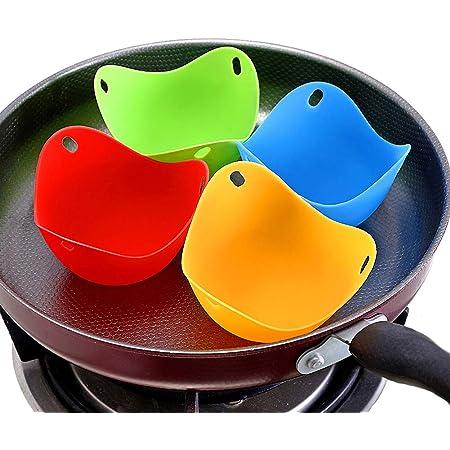 Egg Poacher Caza Furtiva Pods De Silicona Para Cocinar Hornear Molde Perfecto De Cocción De Cocina Poached Huevos Microondas O Hornillo 4pcs Silicona ...
