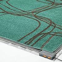 モダンデザインホットカーペットセット ピーク 2畳セット(200x200cm) グリーンブルー